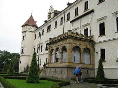 Jižní strana zámku